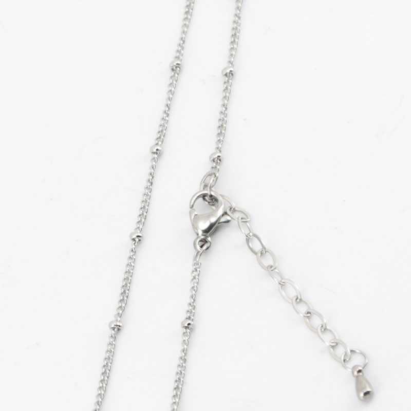 316L stainless steel 20+2inch welding jumpring ball station chain necklace for living glass locket & Perfume Diffuser Locket(China (Mainland))