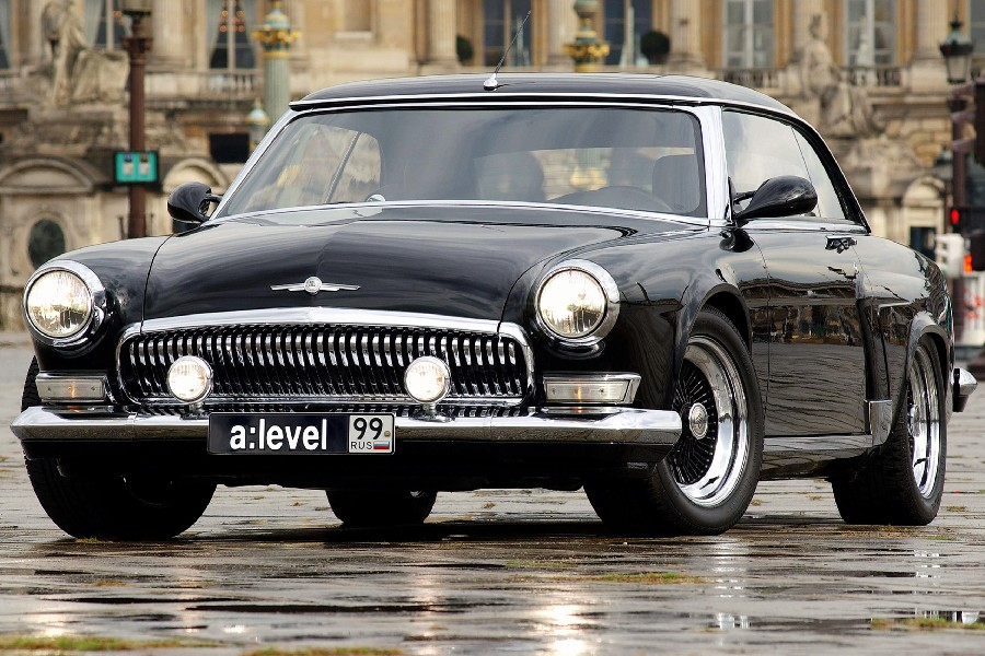 2018 Volga V12 Black Front View Classic Car Poster 12x18print Silk ...