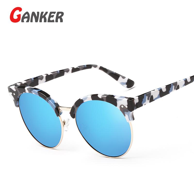 2016 New GANKER General Women Men Sunglasses Colorful Frame M Nail Anti-Reflective UV400 Sun Glasses Vintage Fashion Eyewear(China (Mainland))