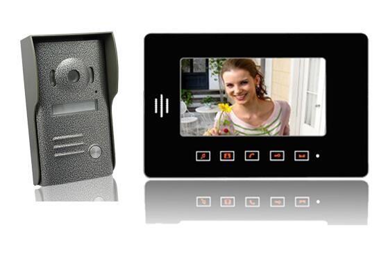 FREE SHIP7″LCD Doorphone System Touch Pad Monitor & Camera Video Intercom 3 Monitor and 2 camera for Villa door phone