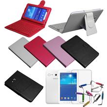 Wireless Bluetooth Keyboard Case For Samsung Galaxy Tab 3 Lite SM-T110 T111 7″ Cover & Film & Stylus