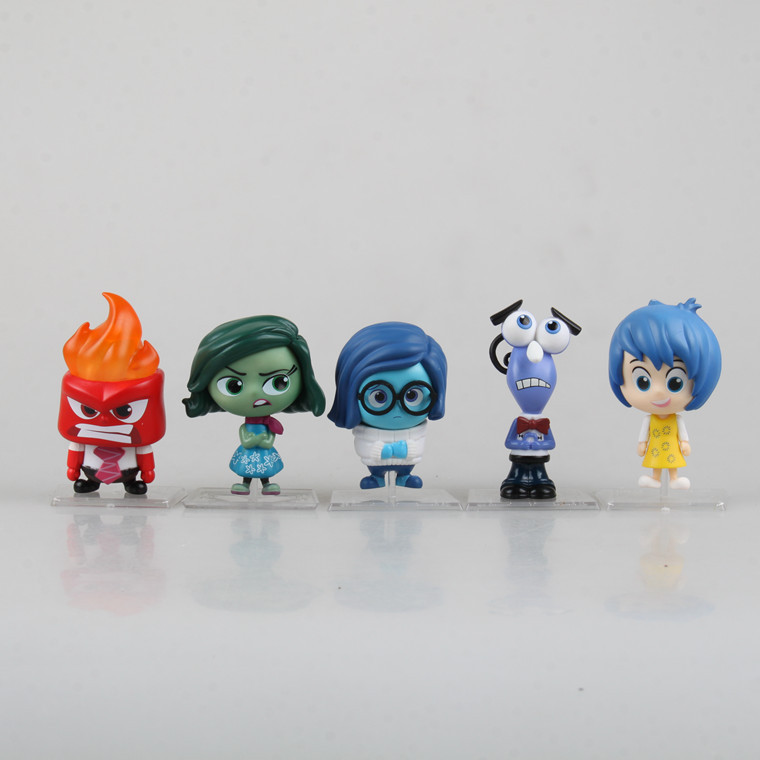 Inside and Out Joy Fear Anger Disgust Sadness 5in1 Dolls Movie Toys PVC 8CM Action Figure Collection Model Kids Toys(China (Mainland))