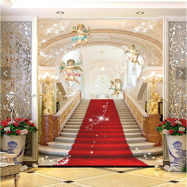 3d murals Living room entrance mural wallpaper wedding photography background painting ...