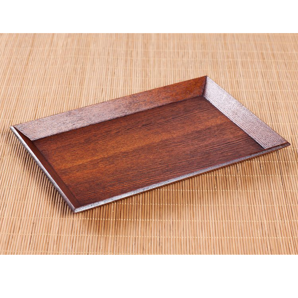 Japanese Wood Tray Large Serving Table Bed Breakfast Drinks Rustic Decoration Large Size 30 * 20 * 2cm(China (Mainland))
