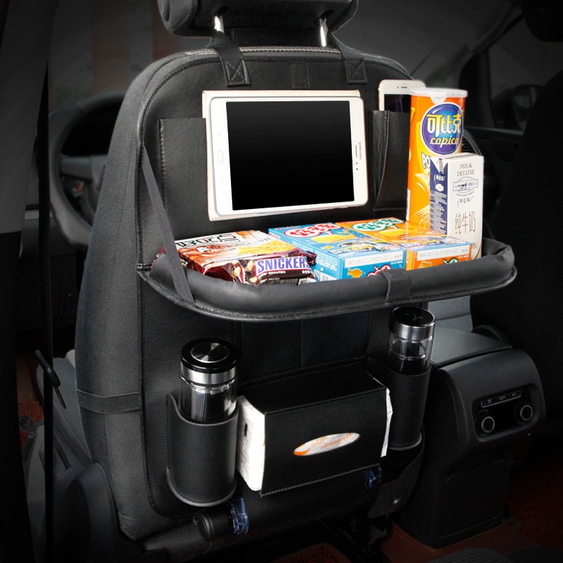 Car Back Seat Organiser With Tray