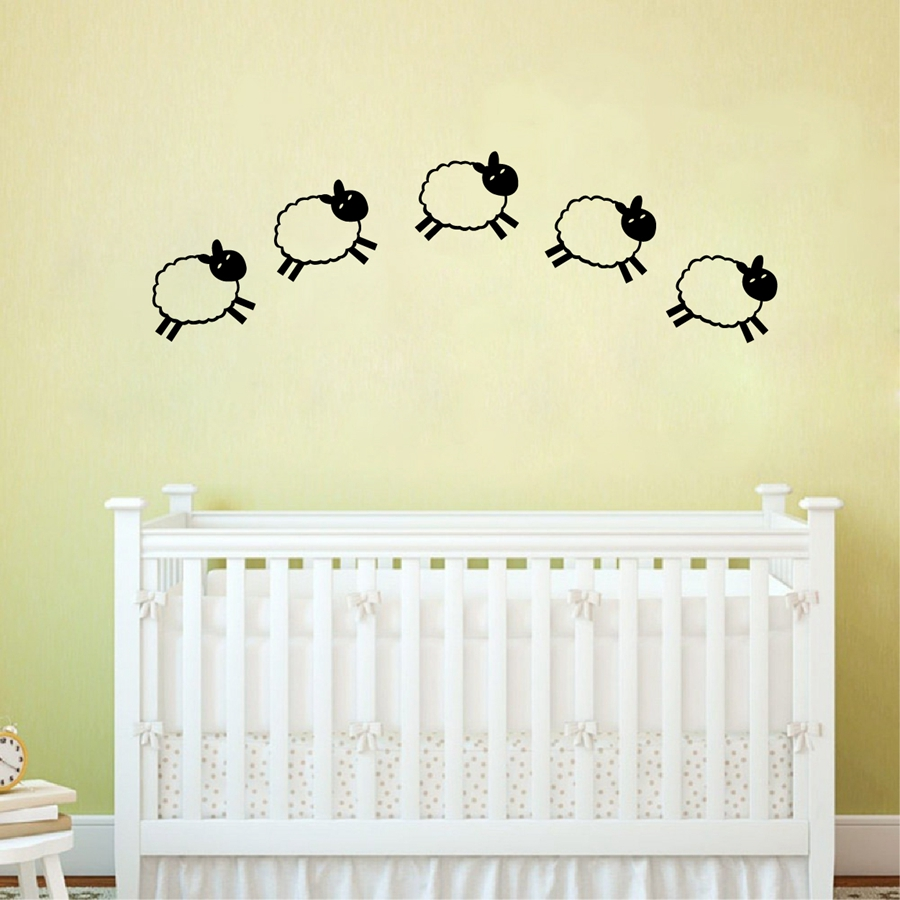 Buy Cartoon Little Sheep Vinyl Wall Decals Diy Baby Room Decoration Removable