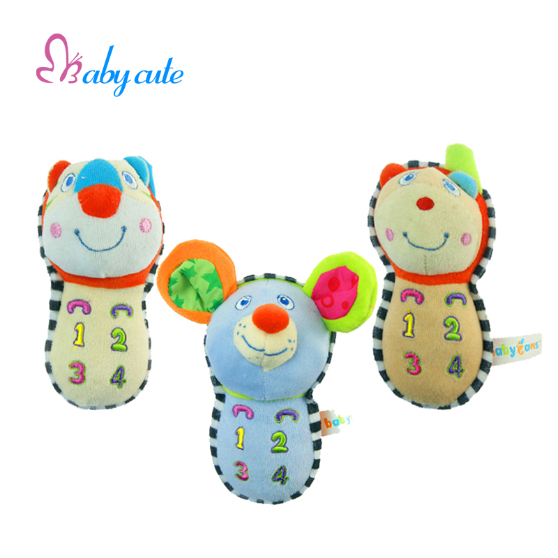 Baby Music Mobile Toys Tiny Love Carron Tiger Bear Mouse Plush Jouet Classic Soft Rattle Sounds Early Educational Birthday Gift(China (Mainland))