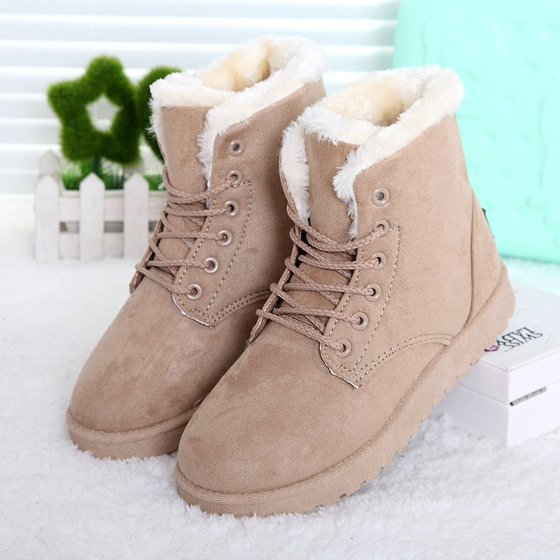 Women-Winter-Boots-Fashion-Women-Boots-Botas-Mujer-Fur-Snow-Boots-Women-Ankle-Boot-Flat-Heels