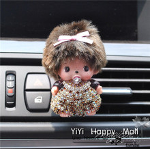 1PCS Crystal Decoration Car Outlet Perfume Auto MONCHHICHI Shape Fragrance CarVent Air Freshener Outlet Perfume Auto Accessories(China (Mainland))