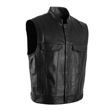 sons of anarchy vest Faux Leather can be customized SOA  leather vest sleeveless jacket  men vest(China (Mainland))