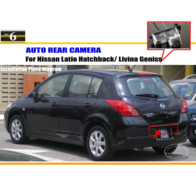 For Nissan Latio Hatchback / Livina Geniss - Rear View Camera / Back Up Park Camera HD CCD RCA NTST PAL / License Plate Lamp OEM(China (Mainland))