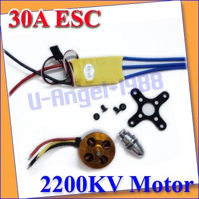 New XXD RC 2200KV  Brushless Motor A2212/6T +  ESC 30A Brushless Motor Speed Controller +Free shipping