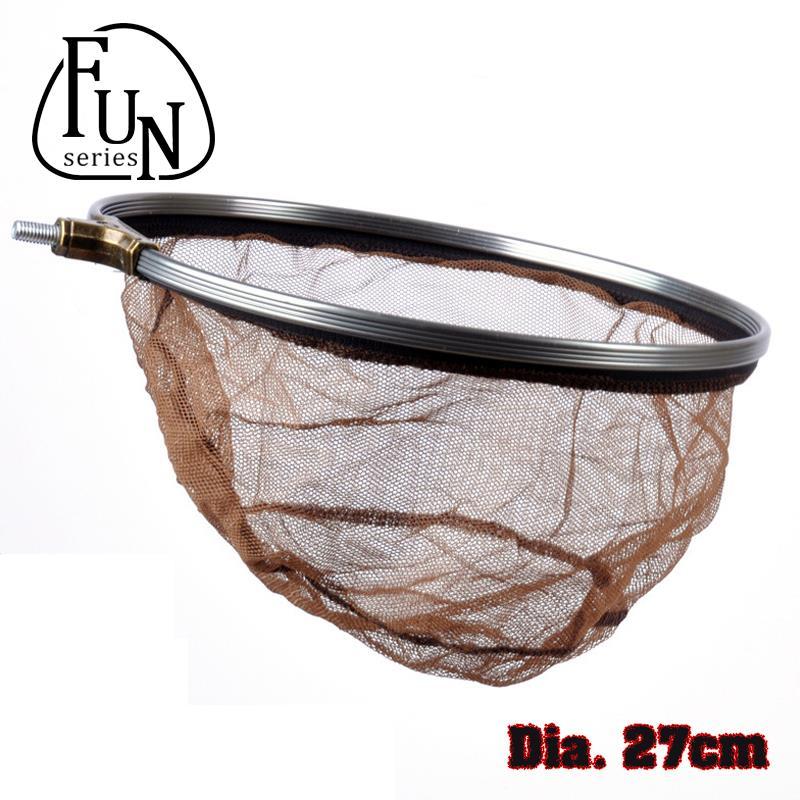 FunSeries Portable Fishing Network Landing Dip netting Steel Ring Cast Net Folding Net Fishing-tackle Dia 27cm Fine Mesh(China (Mainland))