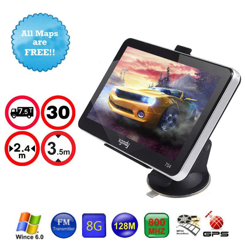 XGODY 7 inch Car GPS NAVIGATION 128MB 8GB 7 Truck GPS Navigator SAT NAV System with