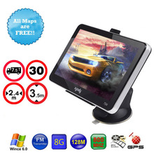 XGODY Brand 7″ Screen Car GPS NAVIGATION+Sunshade 128MB/8GB SAT NAV System For Truck BMW Toyota Free Map Best Costomer Service