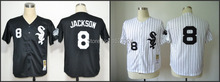 Good Option #8 Bo Jackson Chicago White Sox Men's Baseball Jersey White/Black Authentic Stitched S-3XL Mix Order Accepted(China (Mainland))