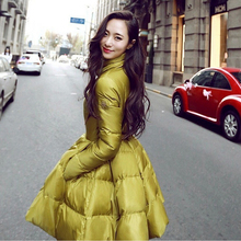 2015 Winter New Fashion Korean Influx Of Plus Size Women's Thick Girls Long Slim Coat Jacket  Y#174