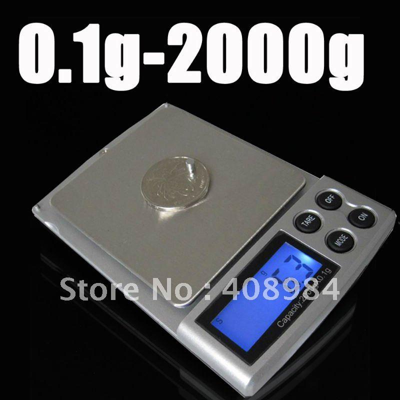 Гаджет  free shipping 0.1g x 2000g  Mini DIGITAL electric POCKET SCALES 2kg Jewerlry gram scales None Инструменты