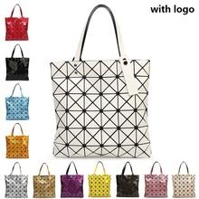 Weibliche Gefaltet Geometrische Plaid Tasche Frau Mode Lässig Top Griff Tasche Verzerrung Paket Umhängetasche Bao Bao Perle BaoBao(China (Mainland))