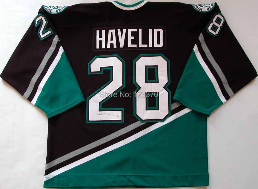 2002-03 Throwback  Anaheim Mighty Ducks Jerseys #28 Nicklas Havelid jerseys Customized Any NO.Name Sewn On Cheap CHINA  Jersey<br><br>Aliexpress