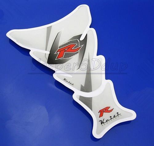 Free shipping 6PCS Motorcycle Tank Pad Protector Decal Sticker For Ducati Honda CBR Yamaha R1 Suzuki Kawasaki W(China (Mainland))