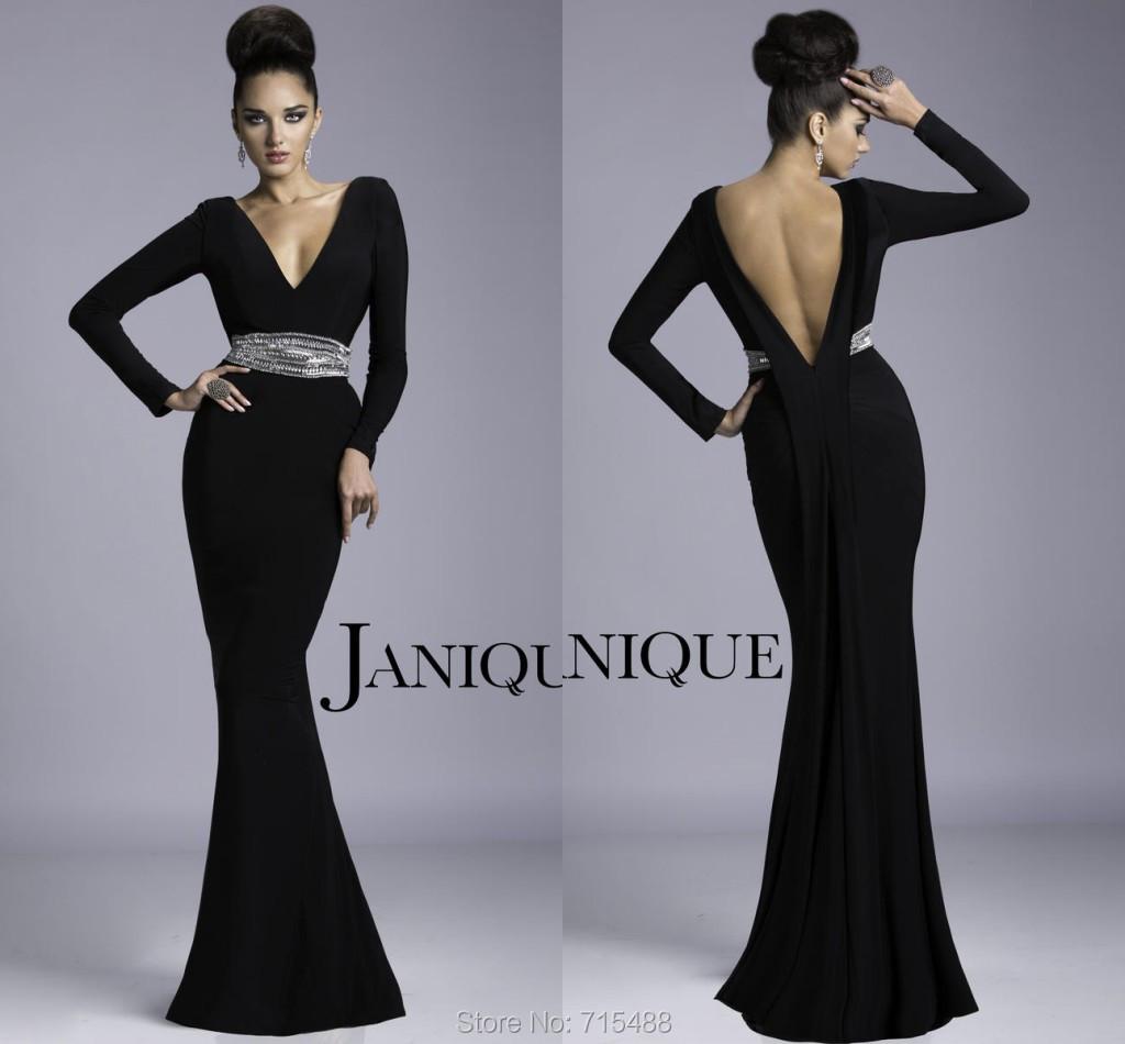 Patron robe noire longue