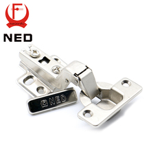 10PCS NED Self Elasti Half Overlay Hinge Cupboard Cabinet Kitchen Door Hinge 35mm Cup Special Spring Hinge For Home Hardware(China (Mainland))