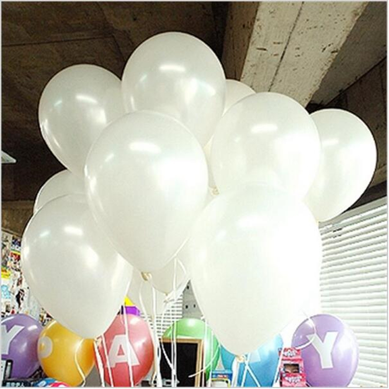 50pcs/lot 10inch White Latex Balloon Air Balls Inflatable Wedding Party Decoration Birthday Kid Party Float Balloons Kids Toys(China (Mainland))