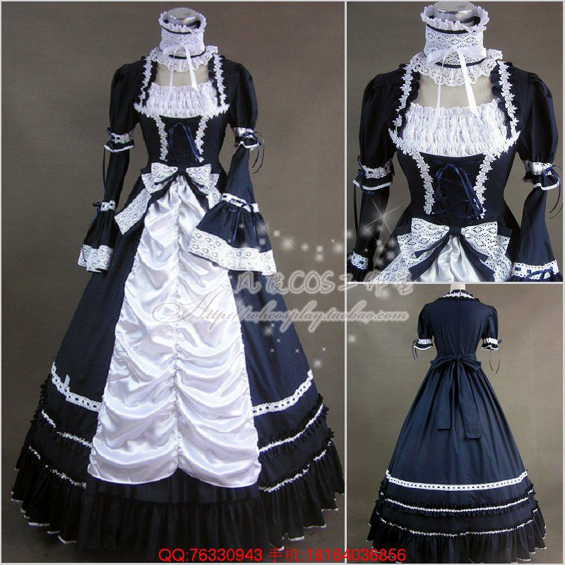 Halloween Victorian Gothic Lolita Dress Cosplay Long Tiered Layered Women Ball Gown Costume Vintage Vestidos Dresses