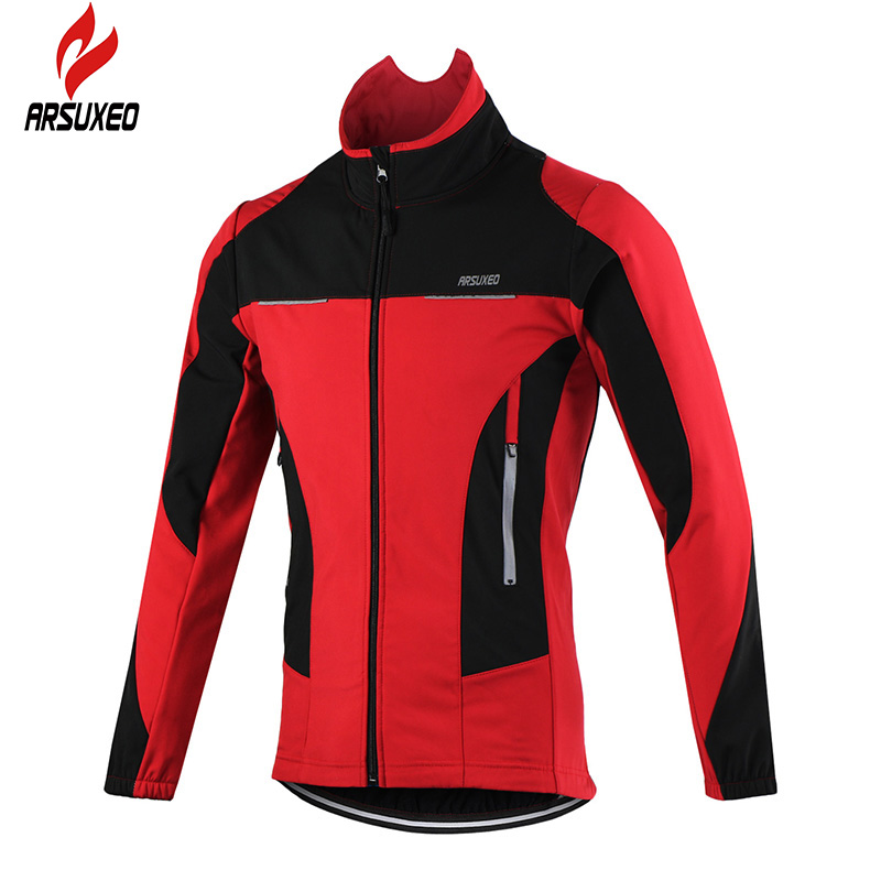 ARSUXEO 2016 Thermal Cycling Jersey MTB Bike Jacket Winter Warm Up Bicycle Clothing Windproof Waterproof Sports Coat(China (Mainland))