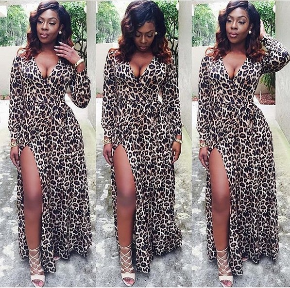 2016 new style summer dress Sexy Leopard Print Dress vintage dress(China (Mainland))