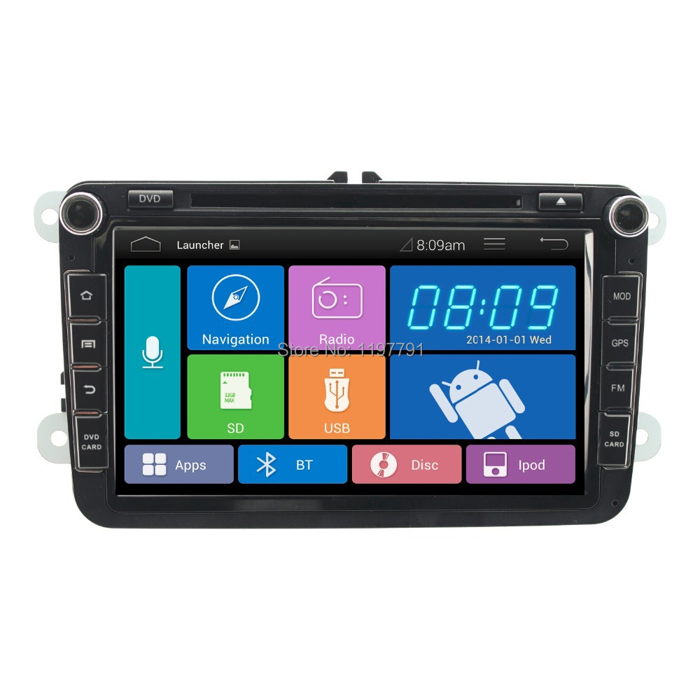 "8""1024*600 2 din Android 4.2 car pc car DVD player radio headunit for VW SKODA, GOLF JETTA PASSAT SEAT SUPERB POLO OCTAVIA(China (Mainland))"