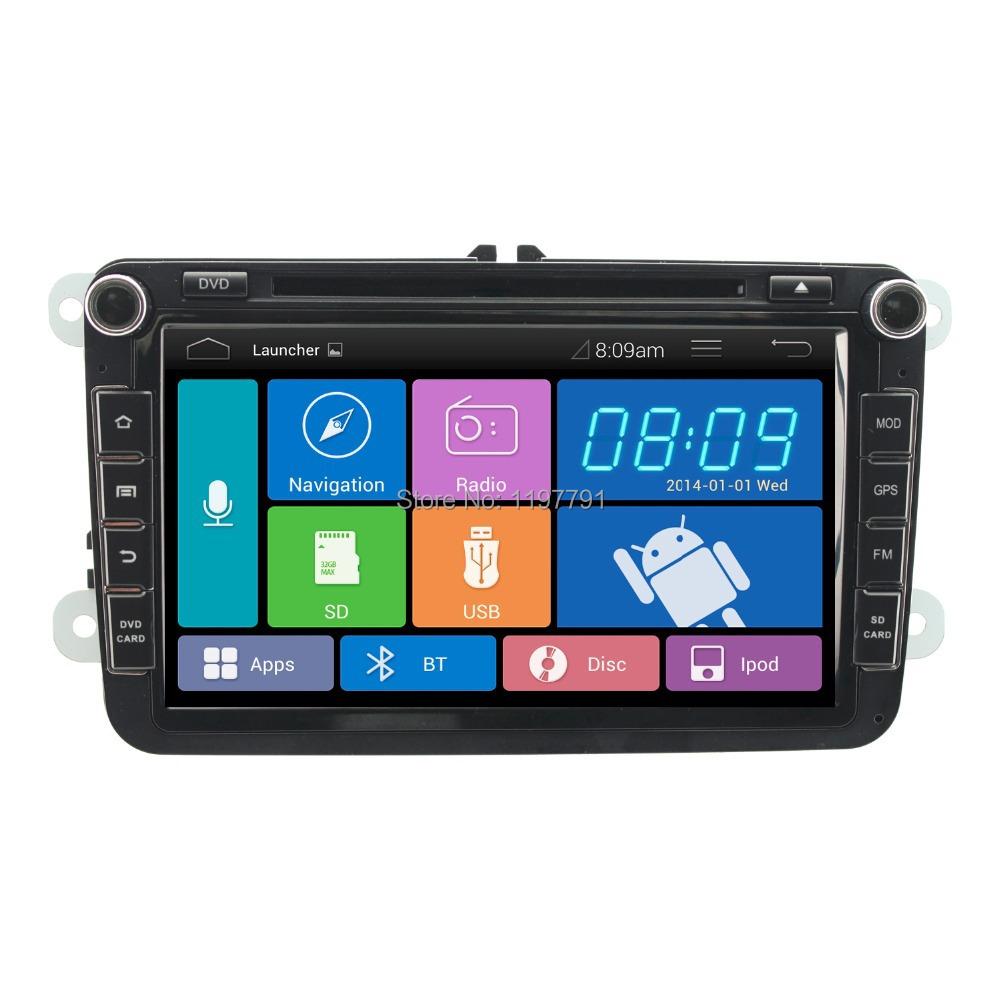 "8""1024*600 2 din Android 4.2 car pc car DVD player radio headunit for VW SKODA, GOLF JETTA PASSAT SEAT SUPERB POLO OCTAVIA(China (Mainland))"