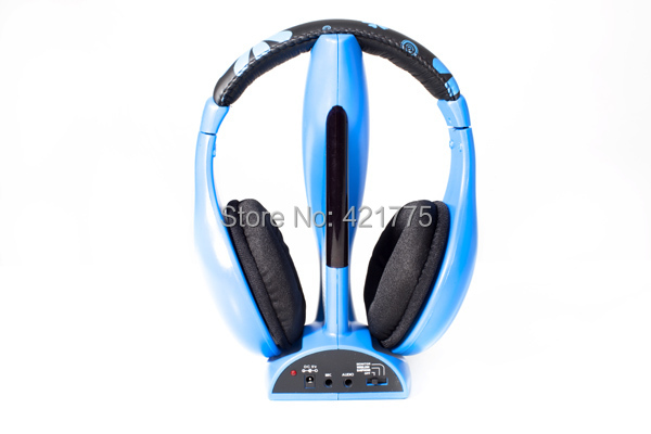 Free Shipping ( 10 pieces / lots ) 6 in 1 Wireless Cordless RF Headphones Headset With Mic for PC laptop TV Wholesale(China (Mainland))