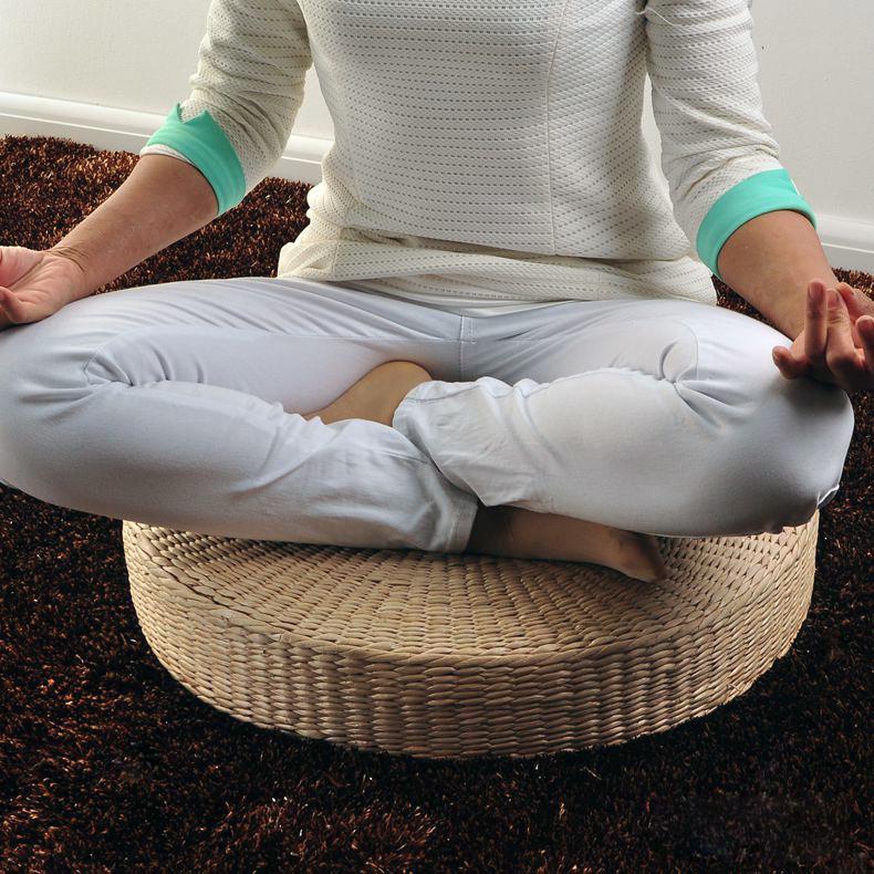 Pouf avec coussin promotion achetez des pouf avec coussin for Tapis de yoga avec canape sun