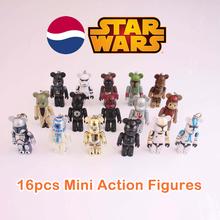 Free shipping (16 pieces/set) Japanese Pepsi Original Star Wars Mini Figures Collection Set Darth Vader Boba Fett Toy Pendants(China (Mainland))