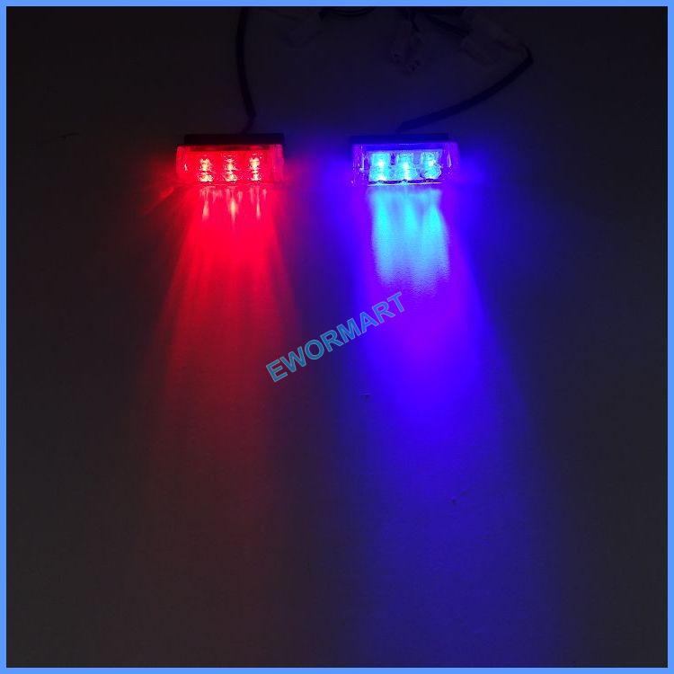 2x3 LED Red Blue Amber White strobe light led green flash light Green Fire Flashing Blinking Strobe Emergency Car Lights Kit(China (Mainland))