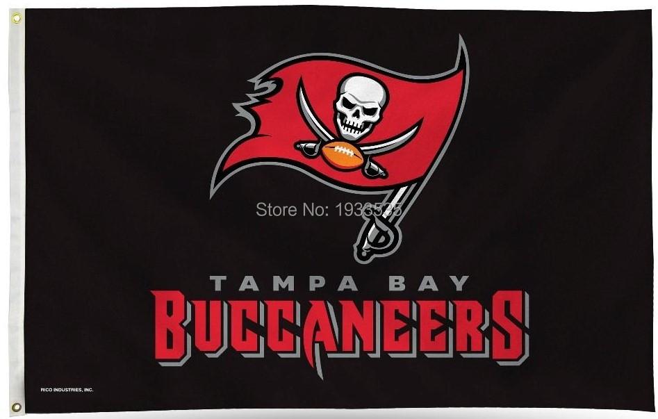 Tampa Bay Buccaneers 3x5 Black Banner Flag(China (Mainland))