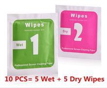 10pcs/lot Camera Lens LCD Screens Dust Removal Wet Dry Cleaning Cloth Wipes Papers for camera for phone 2187(China (Mainland))