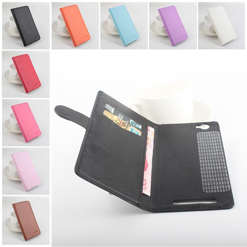 Homtom HT6 Flip Case PU Wallet Magnetic Manual Line Stand Card Slot Leather Protect Shell Case Homtom HT6