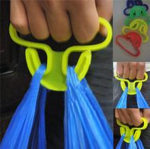 Carry food machine Ergonomic shopping hook rails good helper plastic 9*6cm Weight capacity shopping bag Hooks HG-1975-Random(China (Mainland))