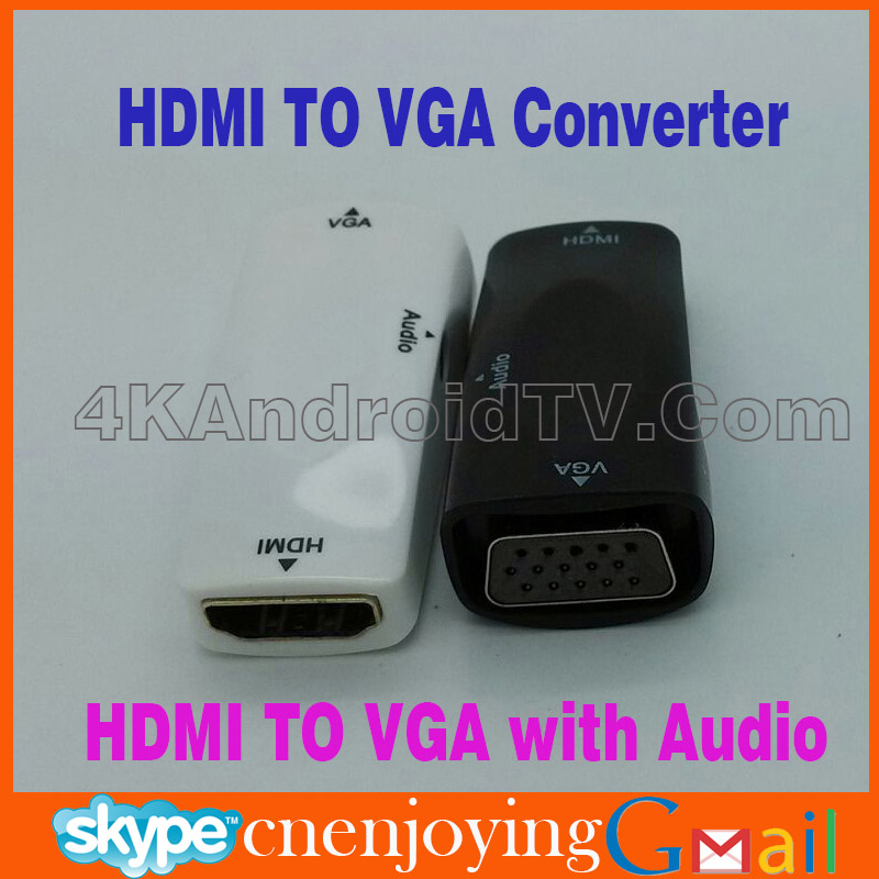 HDMI to VGA Video Converter Adapter + AV Audio Cable For PC PS3 HD TV for Wireless hdmi to Projector Converter with Audio out(China (Mainland))
