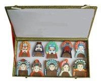Rare!Guaranteed 100% Chinese Characteristics gift high grade wood comb beijing opera mask business gift-ac148