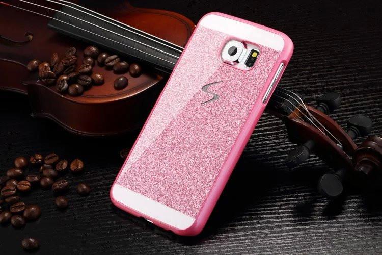 Hard Flash Plastic Cover Diamond Bling Crystal Capa Fundas Case For Samsung Galaxy S6 G9200 S6 Edge G9200 S5 i9600 S4 i9500(China (Mainland))