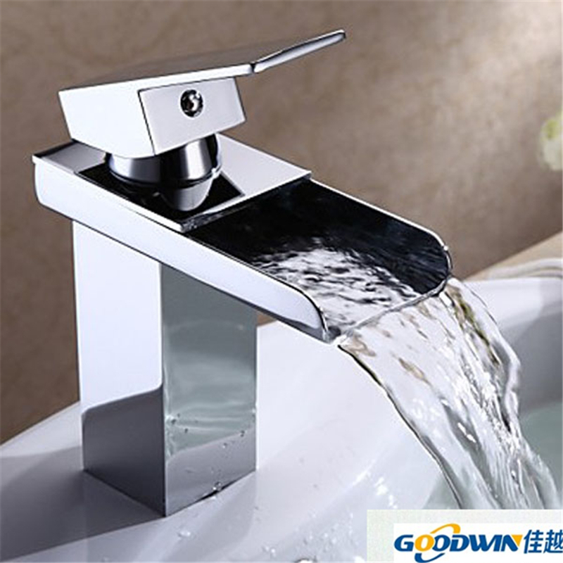 kitchen faucets brass square waterfall faucet modern pagosa waterfall vessel faucet bathroom