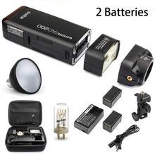 Buy Godox AD200 2.4G Flash 2 Batteries w/ Standard Reflector Canon Nikon Sony Camera for $388.00 in AliExpress store