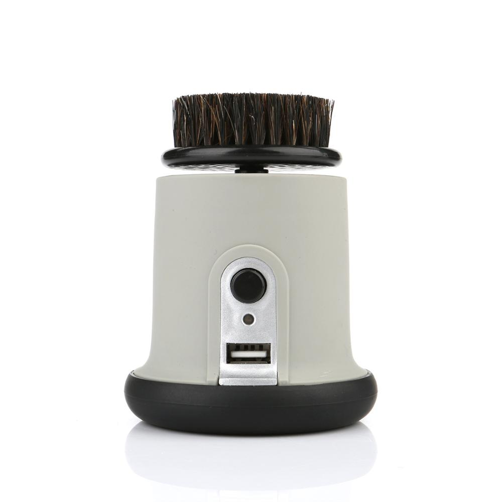 1500mAh 800RPM Lithium Battery charging shoe polishing machine ABS material USB connector Electric shoe brush(China (Mainland))