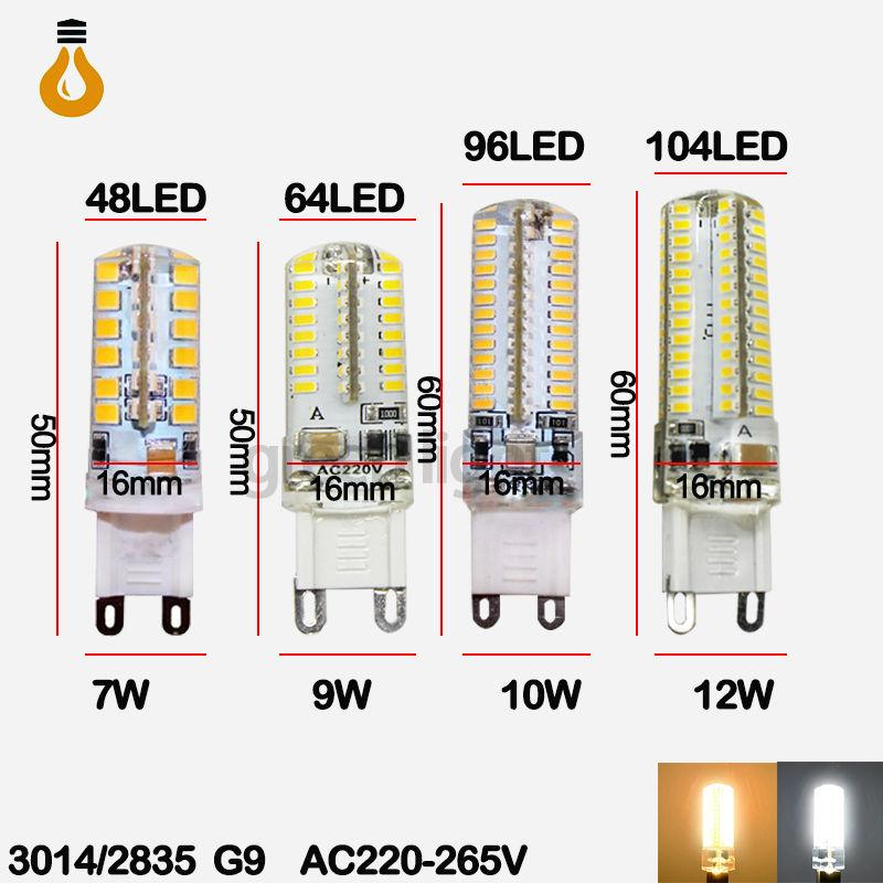 2015 new LED Bulb SMD 2835 3014 LED G4 G9 LED lamp 7W 9W 10W 12W Corn Light AC220V 360 Degree Replace Halogen Lamp free shipping(China (Mainland))