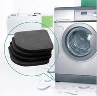 1set/lot Black Color Multifunctional Washing Machine Shock Pads Non-slip Mats Refrigerator Shock Mute Pad 4pcs HO870726
