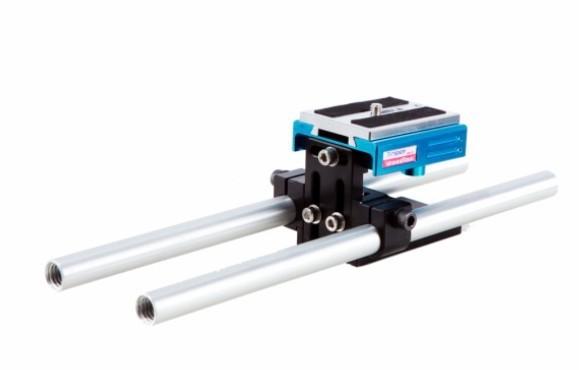 Free shipping 28cm dslr baseplate 15mm Rail Rod Support System Baseplate Mount for DSLR Follow Focus Rig 5D2 5D 5D3 7D<br><br>Aliexpress